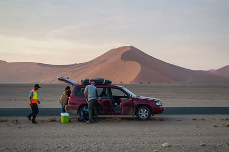 Broke down car in the Namib Desert