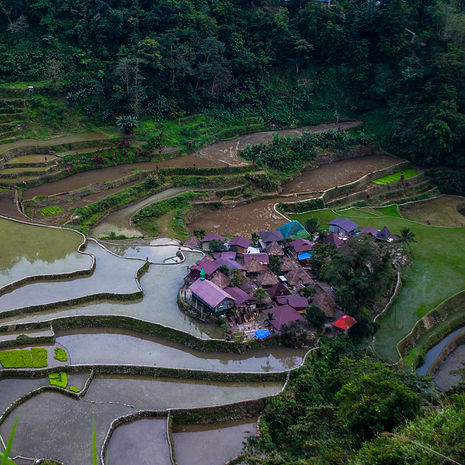 Rice terraces and village in Banaue, Philippines