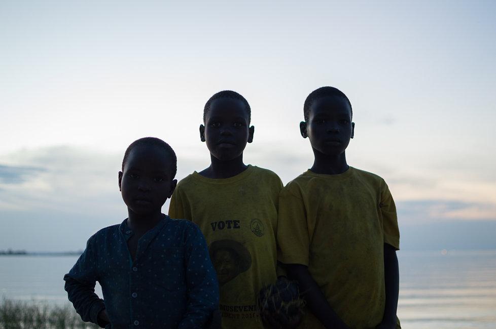 Kids at Lake Victoria, Uganda