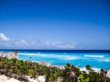 Beach of Cancun in Mexico
