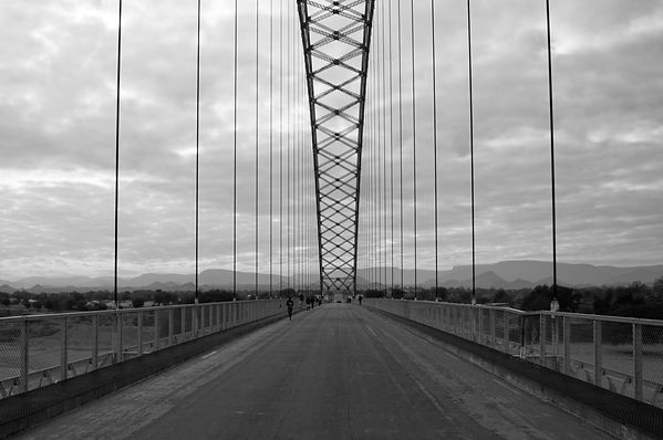 Bridge crossing river in Zimbabwe