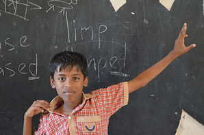 Indian school kid