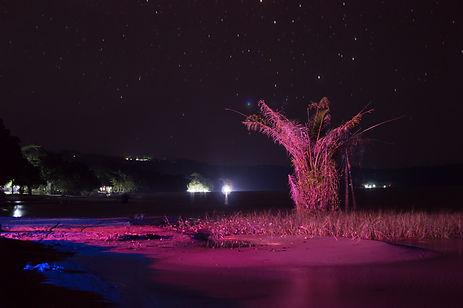 Starry night at Lake Victoria, Uganda