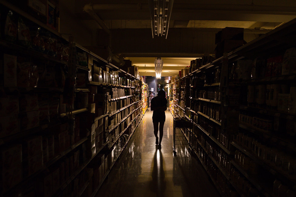 power outage at the supermarket