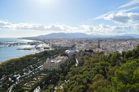 Coastal panorama in Malaga, Spain