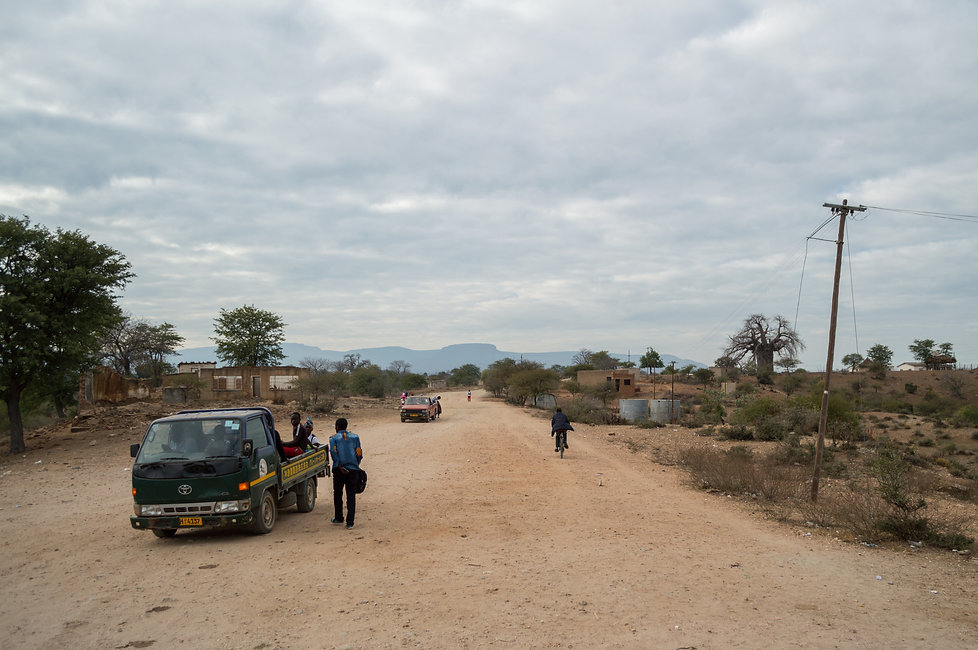 Zimbabwean village and dirt road
