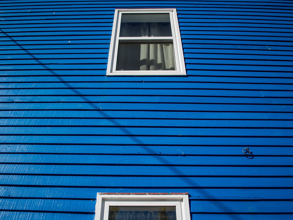 Blue wooden house in St. John's, Newfoundland, Canada