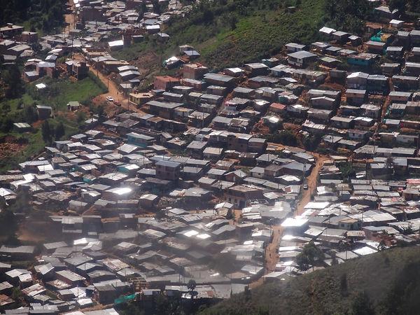 A slum in Medellin, Colombia