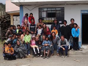 volunteers at a nonprofit in Ecuador