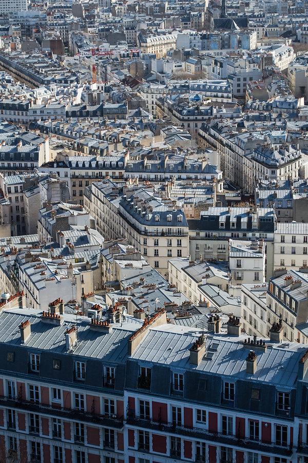 blue roofs, Paris, France