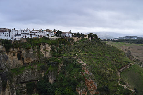 Houses on cliffs in Ronda, Spain