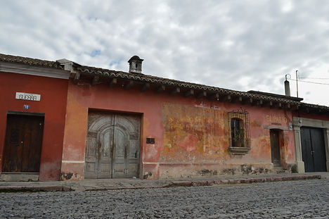 Old colonial houses in Antigua, Guatemala