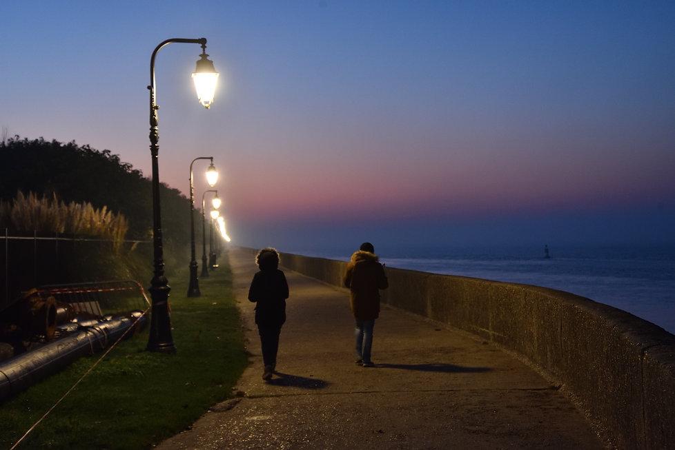 Promenade in Honfleur, Normandy, France