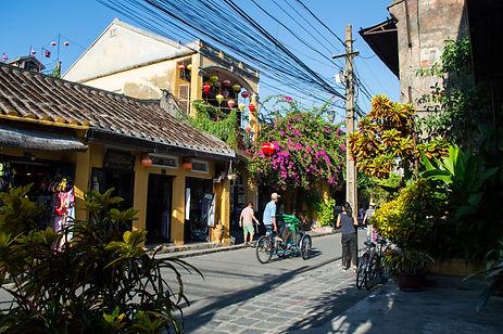 The historic center of Hoi An, Vietnam