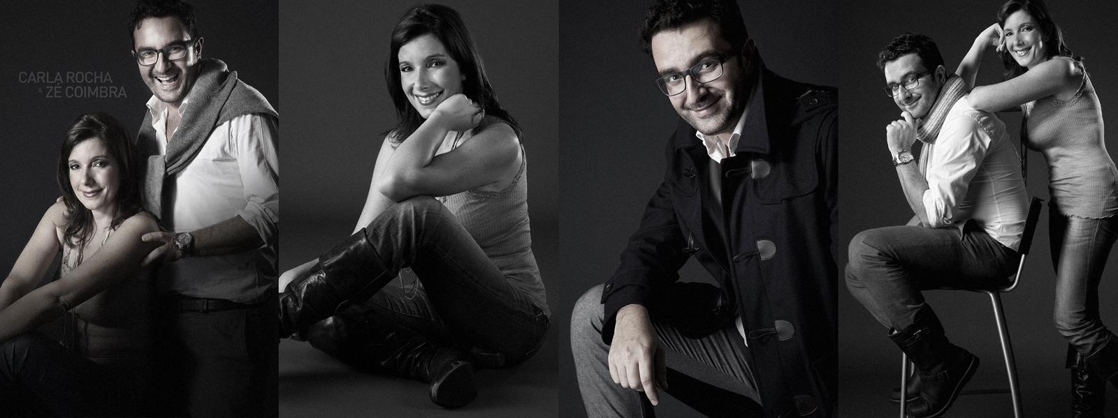 Carla Rocha e zé Coimbra