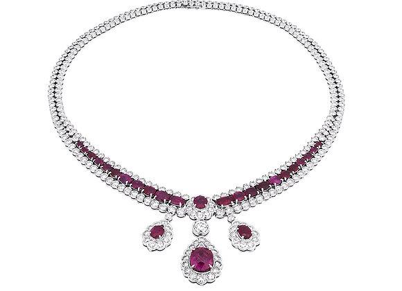 Astoria Ruby Diamond Necklace