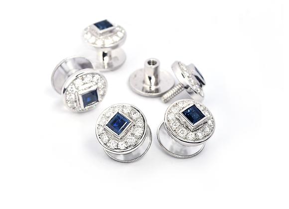 Sapphire & Diamond Buttons