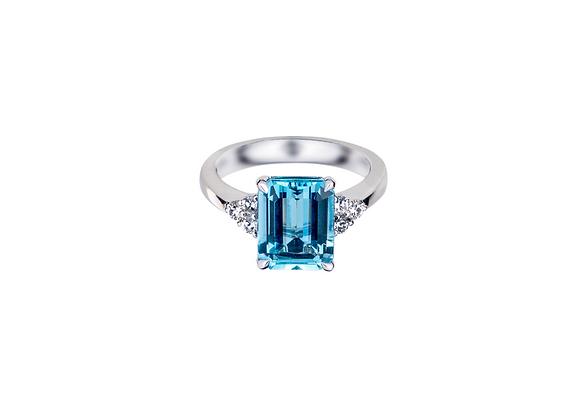 Nadine Aquamarine Ring