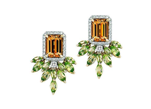 Noemie Mandarin Garnet Earrings