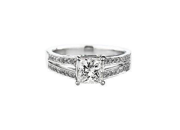 Avila Princess Cut Diamond Ring
