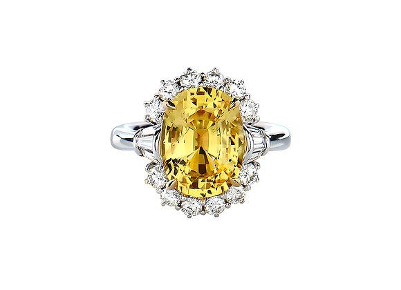 Aurora Yellow Sapphire Ring
