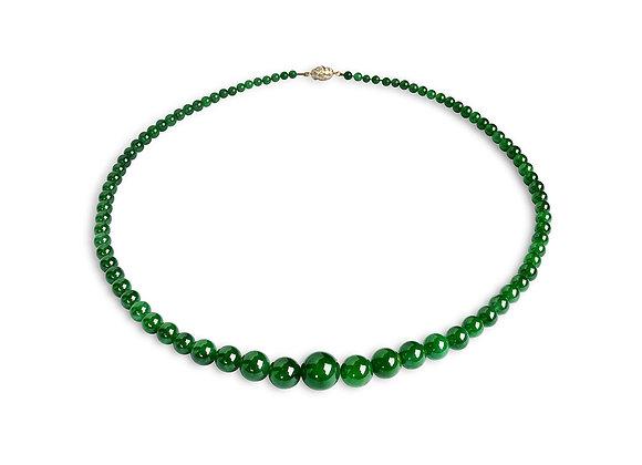Phineas Jadeite Bead Necklace