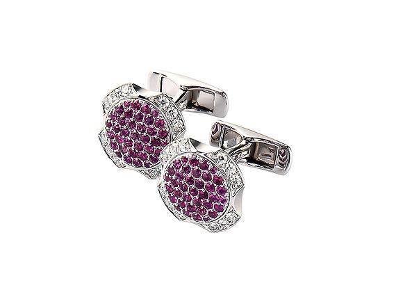 Theodore Round Ruby & Diamond Cufflinks