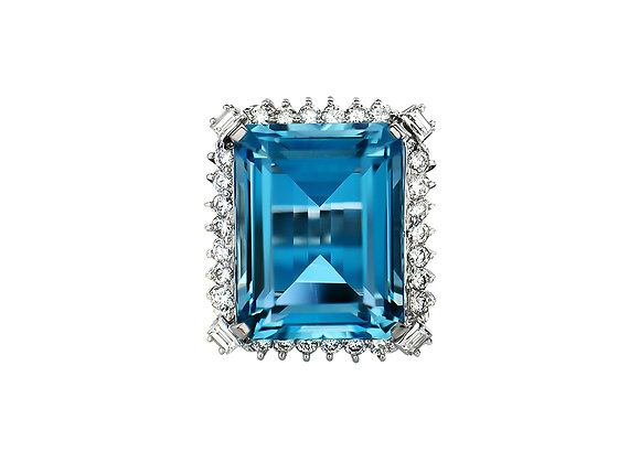 Ophelia Aquamarine Ring