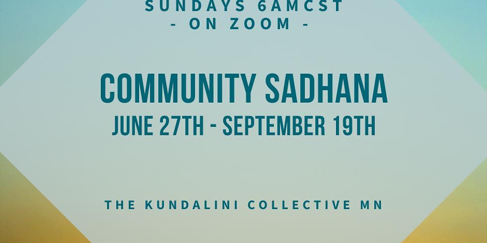 Summer Community Sadhana