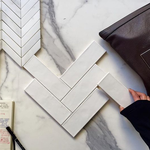 What about a #SubwayTile in a #Chevron p