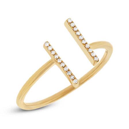 0.06ct 14k Yellow Gold Diamond Lady's Ring