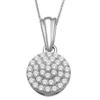 DIAMOND ROUND PAVE PENDANT