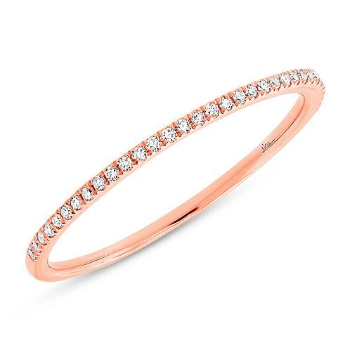 0.10ct 14k Rose Gold Diamond Lady's Band Size 6