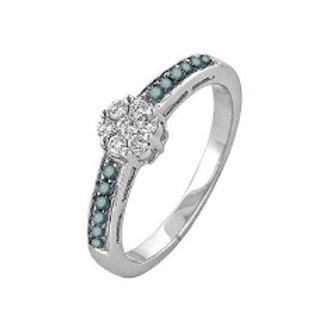 BLUE & WHITE DIAMOND RING PROMO
