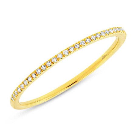 0.10ct 14k Yellow Gold Diamond Lady's Band