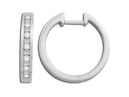 ROUND AND BAGGUETTE CHANNEL SET HOOP