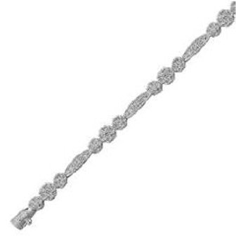 DIAMOND TRIPLE CLUSTER AND DIAMOND BAR BRACELET