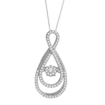 DANCING DIAMOND DOUBLE INTERTWINED PEAR SHAPED
