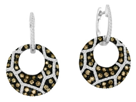 BROWN & WHITE DIAMOND LEOPARDO EARRINGS