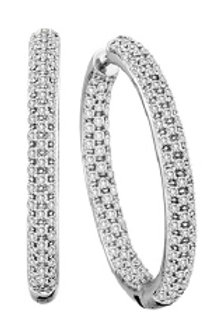 DIAMOND PAVE 35MM IN/OUT HOOP