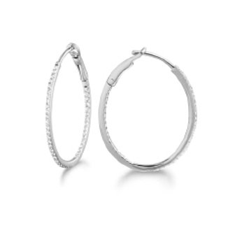 DIAMOND IN & OUT 20MM PROMOTIONAL OVAL HOOP