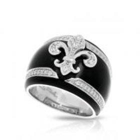 Fleur de Lis Black Ring