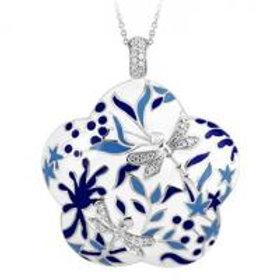 Porcelain Cobalt Pendant