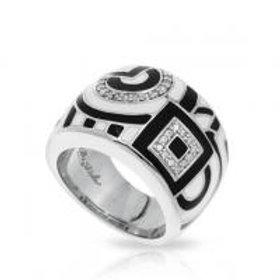 Geometrica Black & White Ring