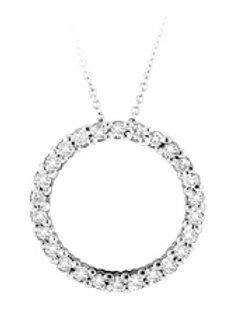 DIAMOND 25MM CIRCLE PENDANT