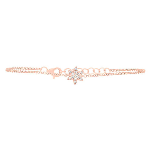 Rose Gold Diamond Star of David Bracelet