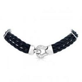 Lasso Black Necklace