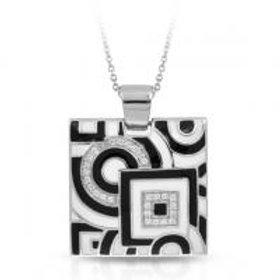 Geometrica Black & White Pendant
