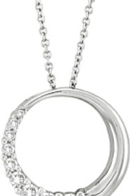 DIAMOND 1/2 CIRCLE JOURNEY PENDANT