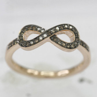 BROWN DIAMOND INFINITY RING